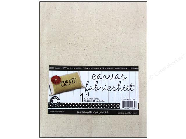 Canvas Fabric Sheet - 2 Sizes
