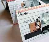 Black and White Recipe Card Paper