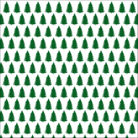 Hunter Green and White Trees Paper