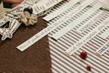 Chocolate & Ivory Ribbon Stripe Paper