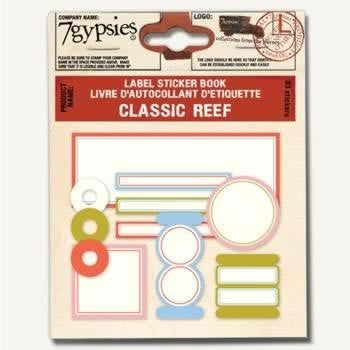7gypsies Label Sticker Book - Classic Reef