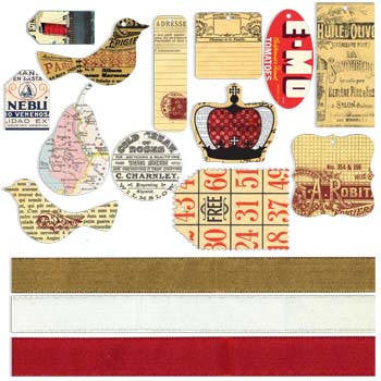 Vintage Tags with Ribbon