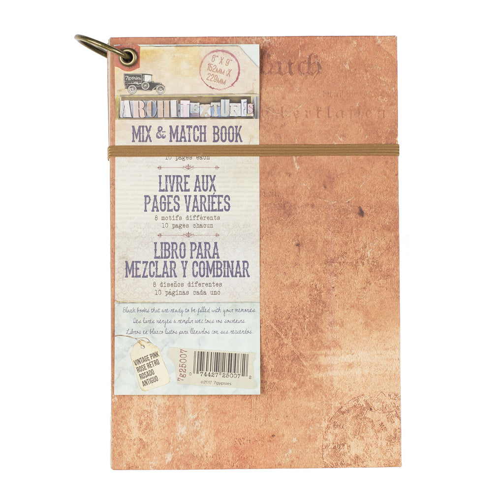 "Architextures™ Mix and Match Book - 6""X9"" Vintage Pink"