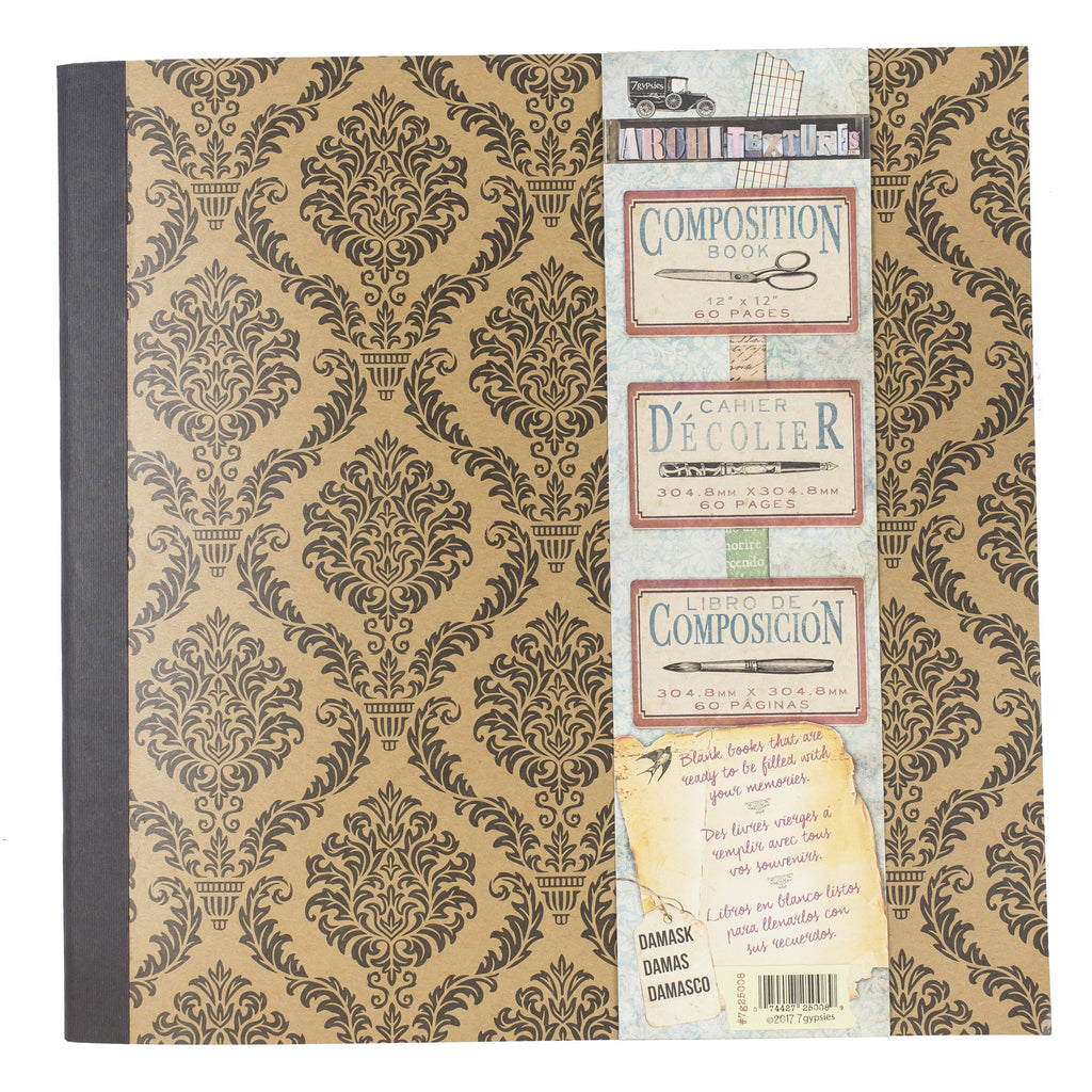 "Architextures™ Composition Book - 12""X12"" Damask"