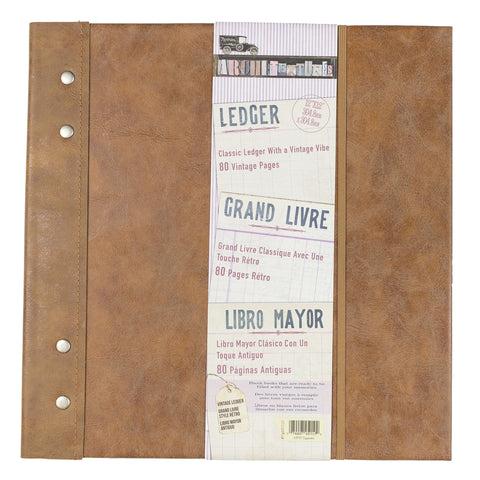 "Architextures™ Vintage Ledger 12""X12"""