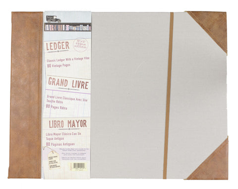 "Architextures™ Vintage Canvas Ledger - 12""X16"""