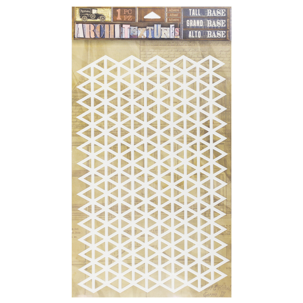 architextures tall base triangle grid canvas corp brands