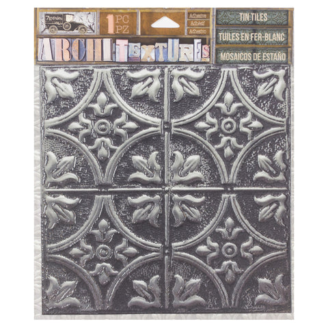 Architextures™ Tin Tile - Tarnished Silver