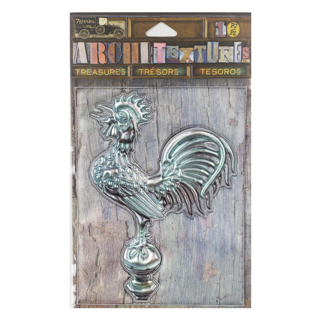 Architextures™ Treasures - Weathered Metal Rooster