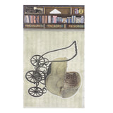 Architextures™ Treasures - Wicker Baby Carriage