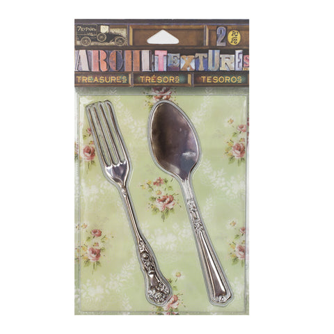 Architextures™ Treasures - Tarnished Fork & Spoon