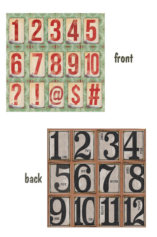 Architextures™ 12x12 Paper - Number Tags