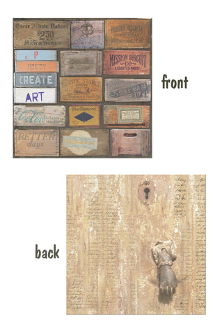 Architextures™ 12x12 Paper - Stenciled Crates