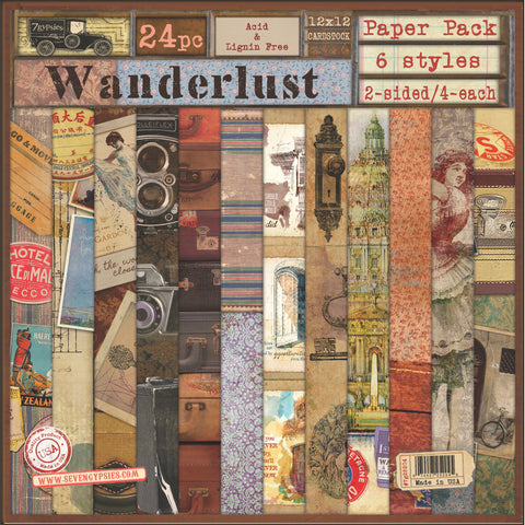 7gypsies Gypsy Paper Pack Collection - Wanderlust