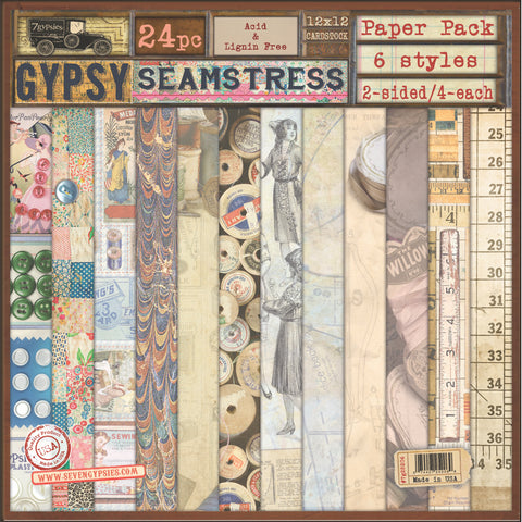 7gypsies Gypsy Paper Pack Collection - Gypsy Seamstress