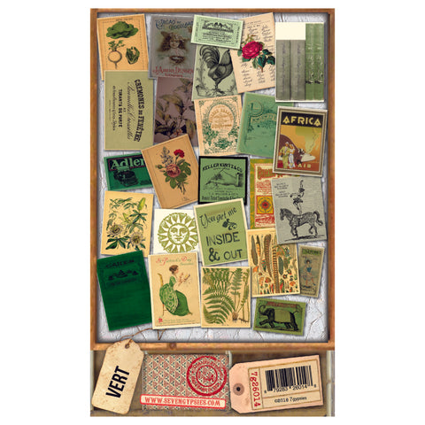 Architextures™ Salvage Ephemera - Vert  (25pc)