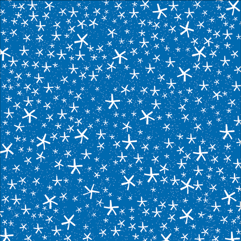 Royal Blue and White Flakes Rev Paper