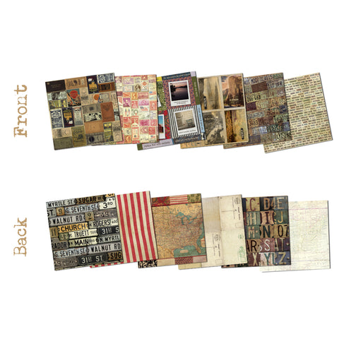 7gypsies American Vintage 8x8 Paper Pad (48 sheets)