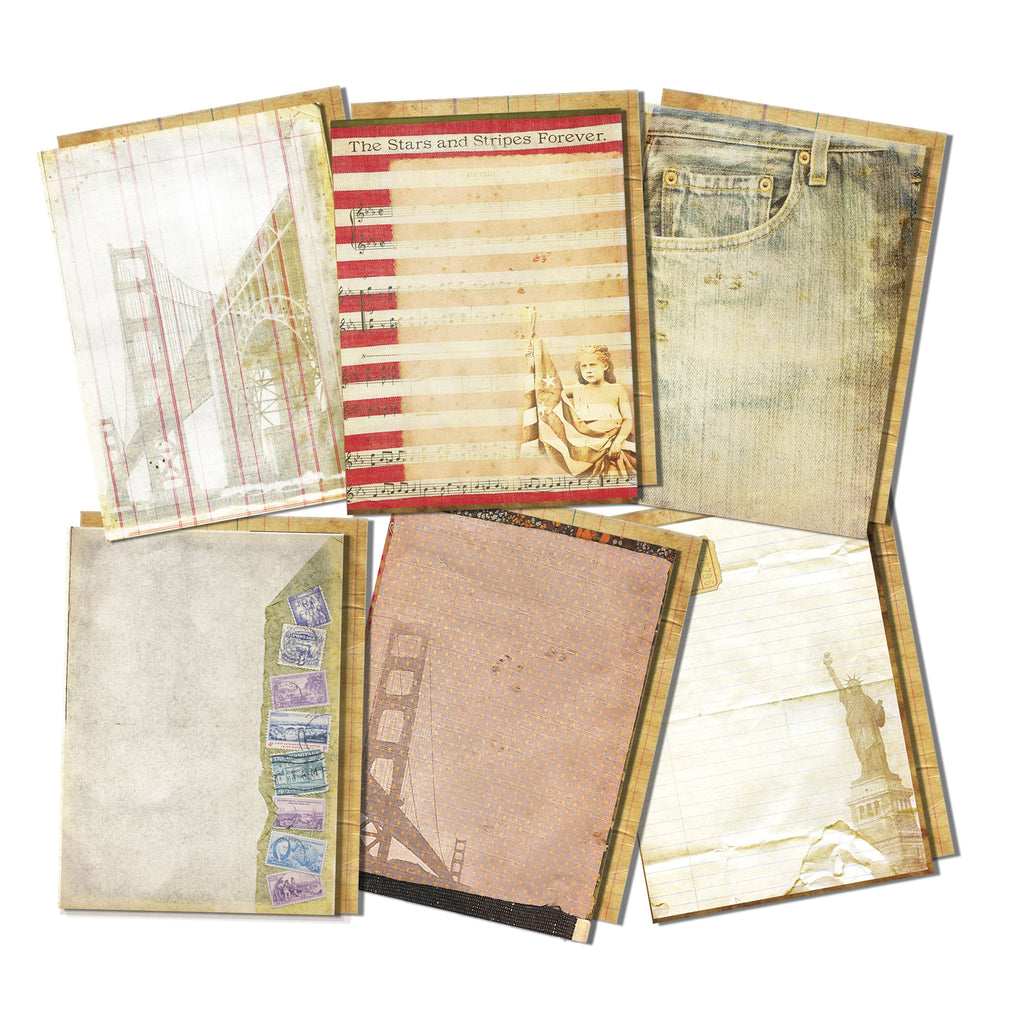 7gypsies American Vintage Journal Pages 5x7