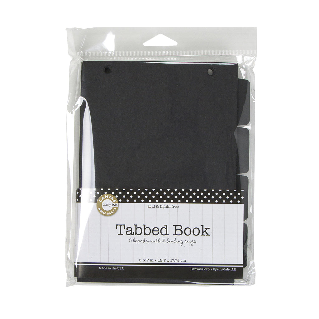Tabbed Book  - Black 5x7