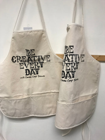 Be Creative Every Day Canvas Apron