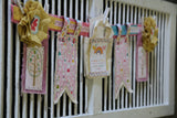 Canvas Banner Shape -  Tag Set of 12