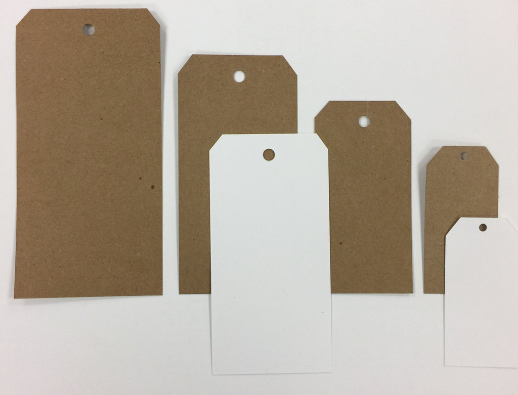 Bulk White Market Tags (Assorted Sizes Available)
