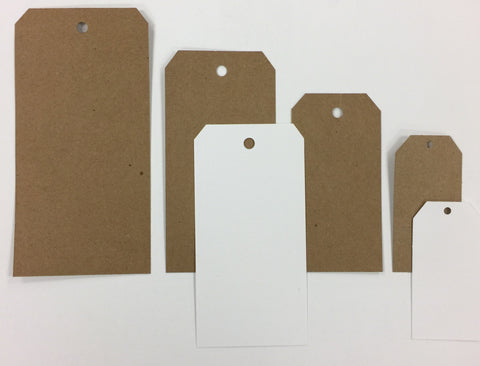 Bulk Ivory Paper Tags (Assorted Sizes Available)