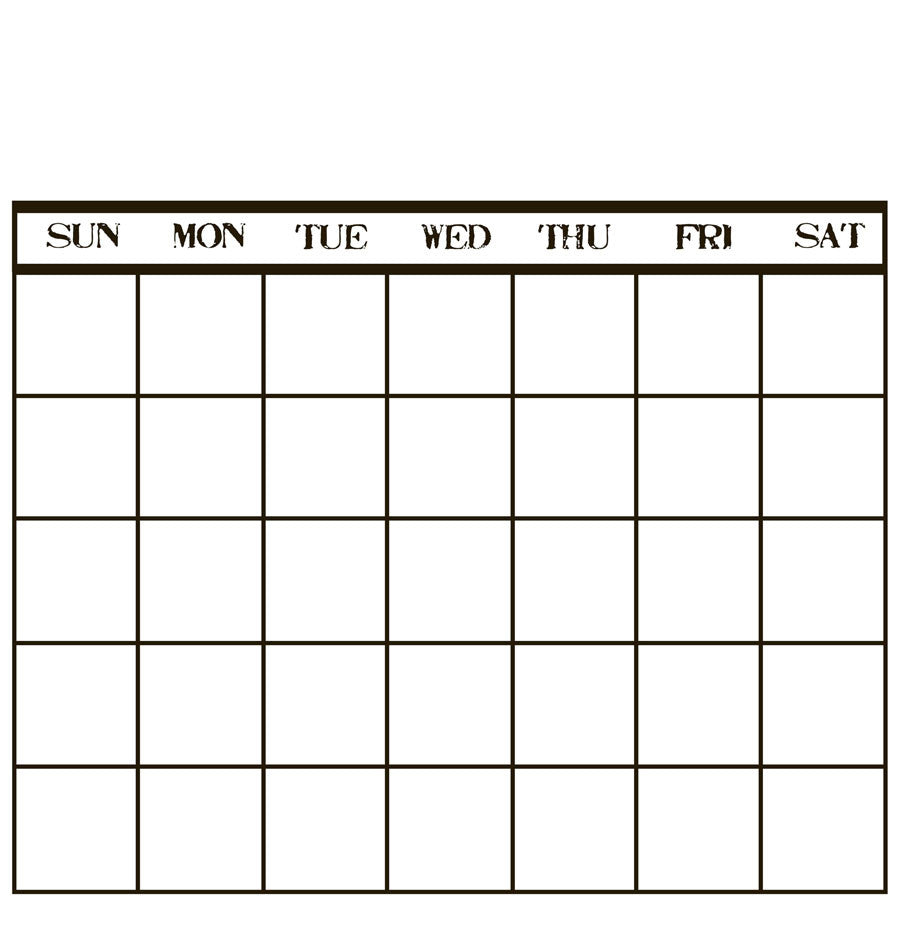 Blank Calendar Stamp : Black white stamped calendar paper canvas corp brands