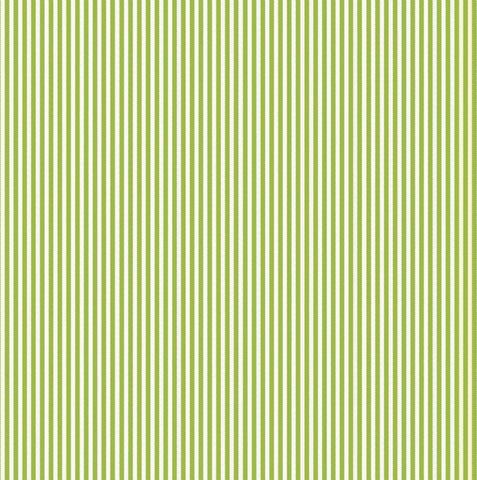 Green & Ivory Ribbon Stripe