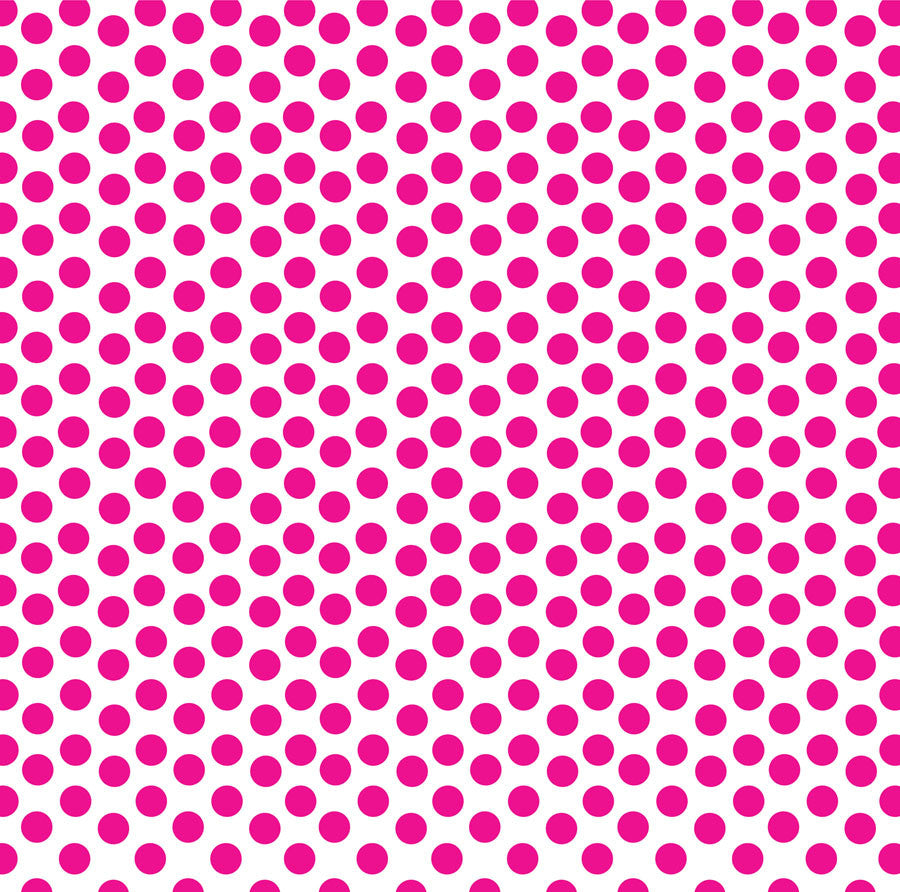 Hot Pink & White Dot Paper