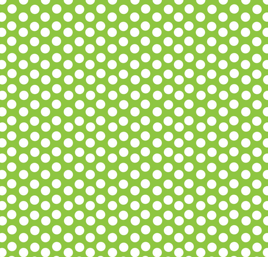 Lime Green & White Dot Reverse