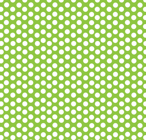 Lime Green and White Dot Rev Paper