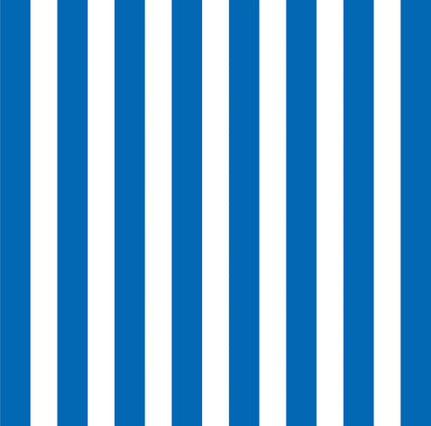 Royal Blue and White Big Stripe Paper
