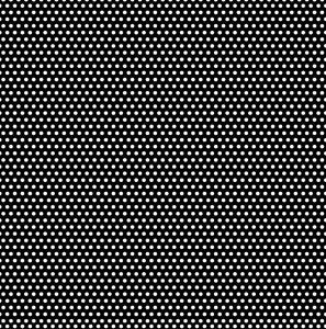 Black & White Mini Dot Reverse