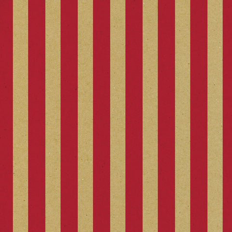 Red and Kraft Big Stripe Paper