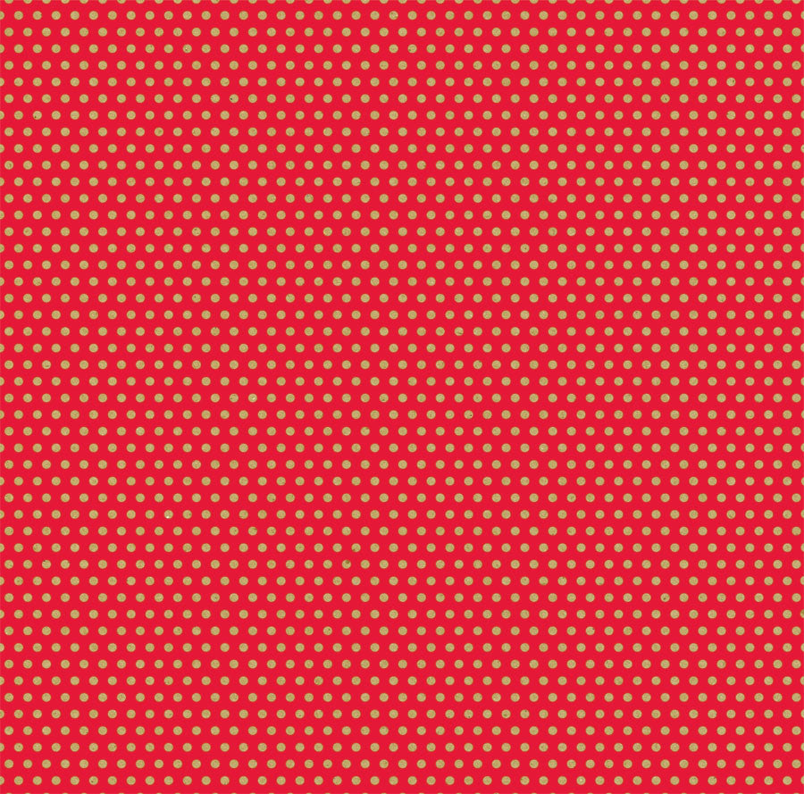 Red & Kraft Mini Dot Rev Paper