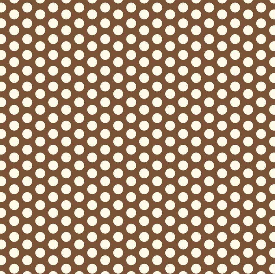 Chocolate & Ivory Dot Rev Paper