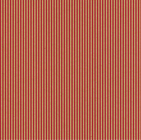 Red & Kraft Ribbon Stripe Paper