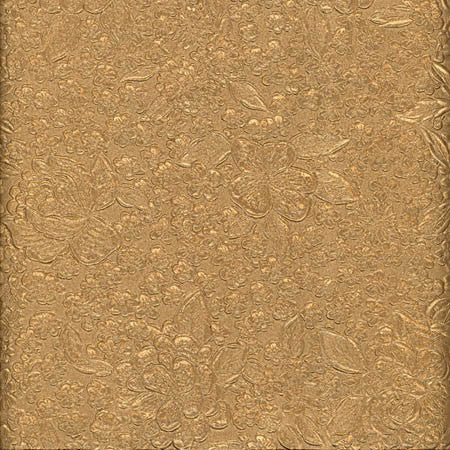 Handmade Paper - Embossed Burnished Floral