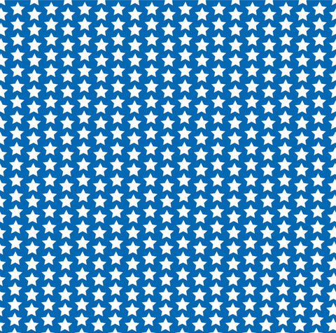 Royal Blue and White Star Paper