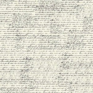 Black and Ivory French Script Paper