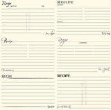 Black and Ivory Recipe Card Paper