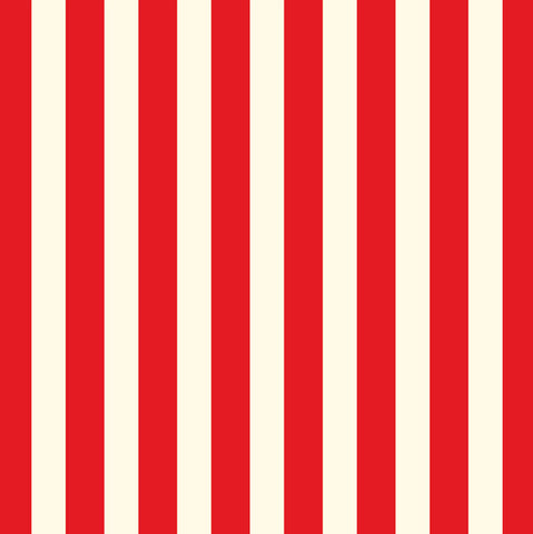 Red and Ivory Big Stripe Paper