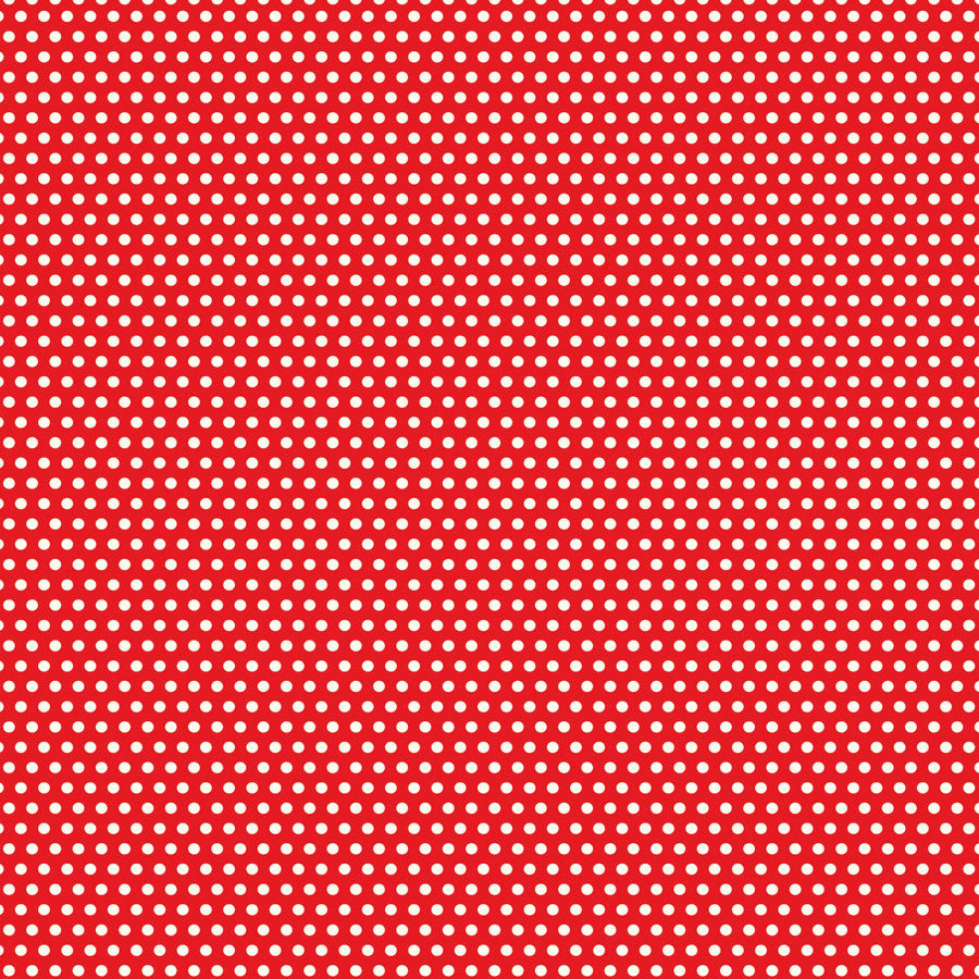 Red and Ivory Mini Dot Rev Paper