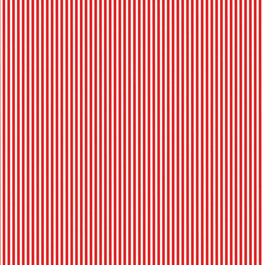 Red and Ivory Ribbon Stripe Paper