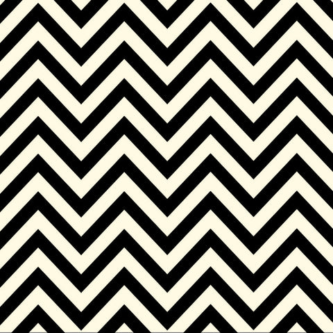 Black and Ivory Chevron Paper