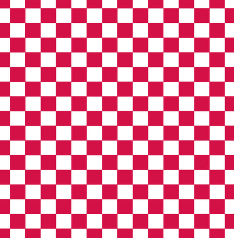 Red and White Big Check Paper