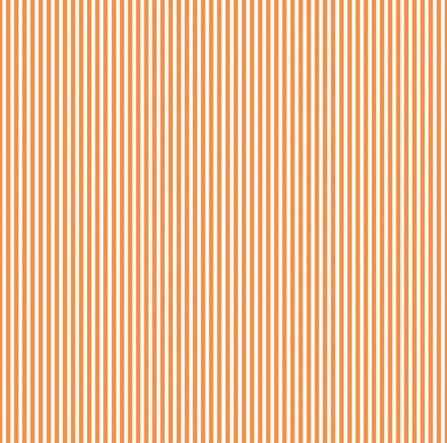 Orange & White Ribbon Stripe Paper