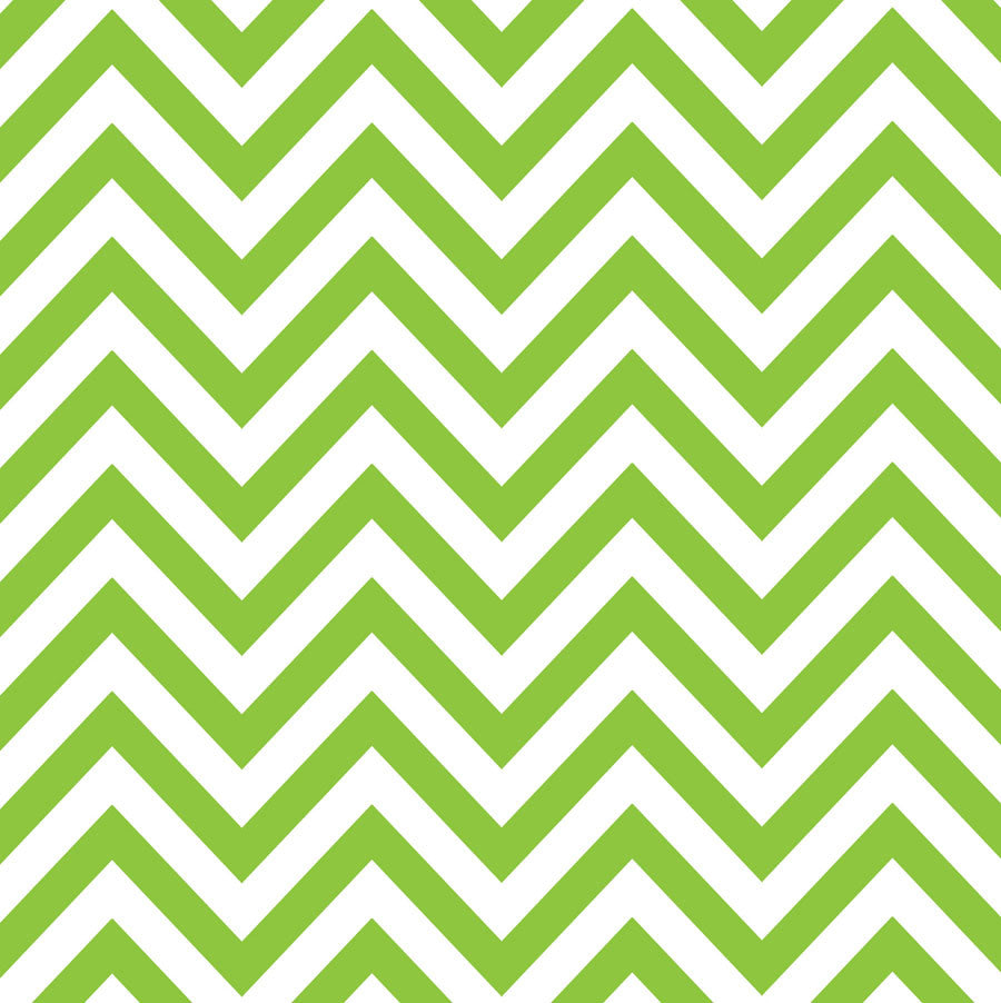 Lime Green & White Chevron Paper